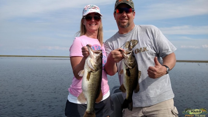 Husband and wife bass fishing bassonline fishing adventures for Tom bass park fishing
